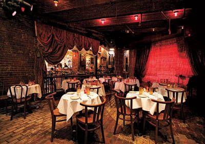 jazz club decor Like the heavy drapes...