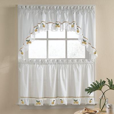 Lemon kitchen curtains citrus pinterest lemon kitchen window and kitchen curtains - Kohls kitchen curtains ...