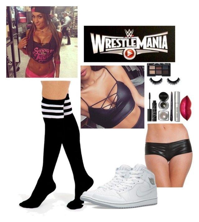 Against Nikki @ WrestleMania by gabriellejordan-bella on Polyvore featuring Ryder, Alivila.Y Fashion, Jordan Brand, Bobbi Brown Cosmetics and NARS Cosmetics