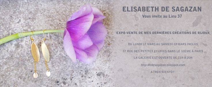 Expo-vente de mes bijoux au Lieu 37, rue des Petites Écuries dans le 10è à Paris.
