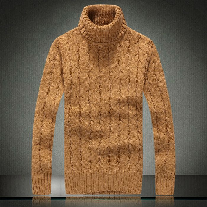Men turtleneck wool sweater contracted business and leisure warmer winter 2016 high-quality luxurious sweater black is white
