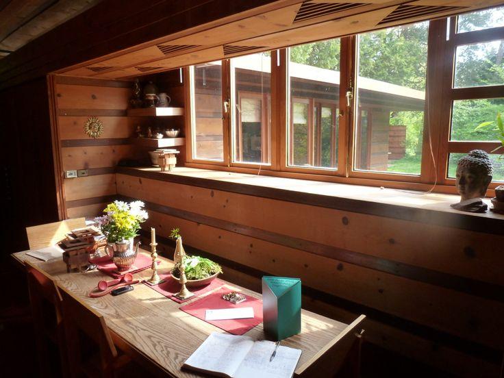 Jacobs house interior google zoeken usonia houses - Frank lloyd wright house interiors ...