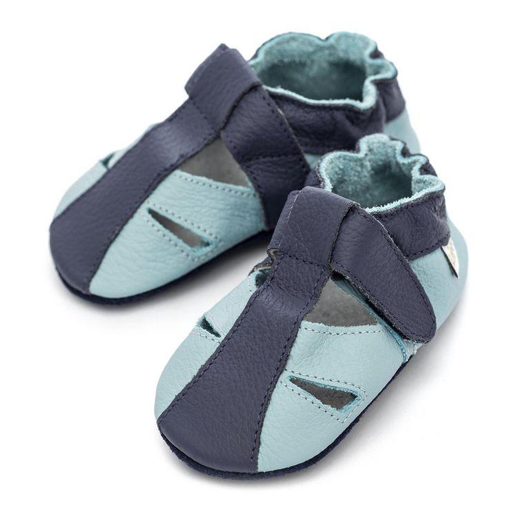 Liliputi® Soft Baby Sandals - Sky  http://www.liliputibabycarriers.com/soft-leather-baby-sandals/Sky