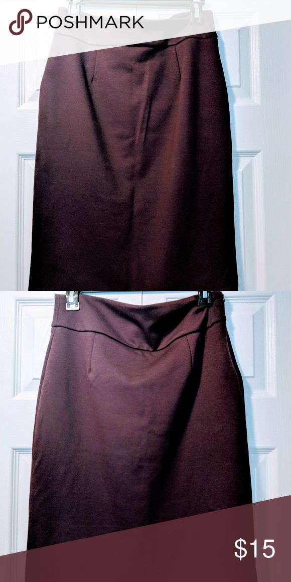 Grace Elements - High Waisted Maroon skirt - (6) Gently ...