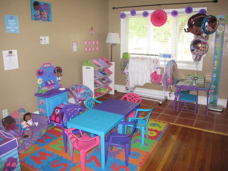 Doc Mcstuffins Birthday Party Ideas Table And Chairs