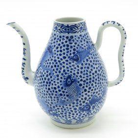 Large China Porcelain Tea Pot