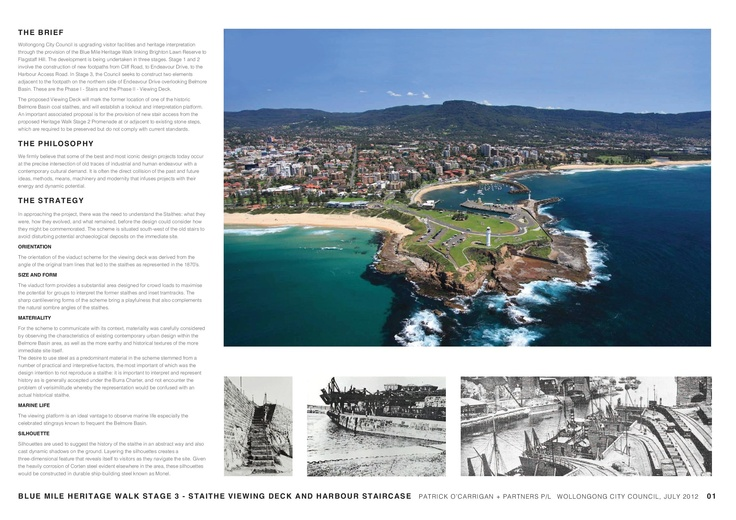 Blue Mile Heritage Walk Stage 3 proposal commissioned by Wollongong City Council