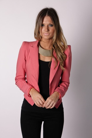 I love the colored blazer look (Esther Boutique)