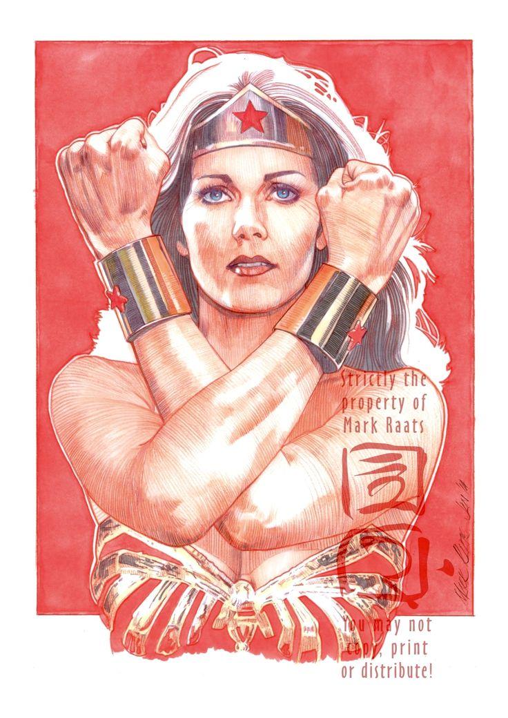 Lynda Carter as Wonder Woman by MarkRaats.deviantart.com on @deviantART