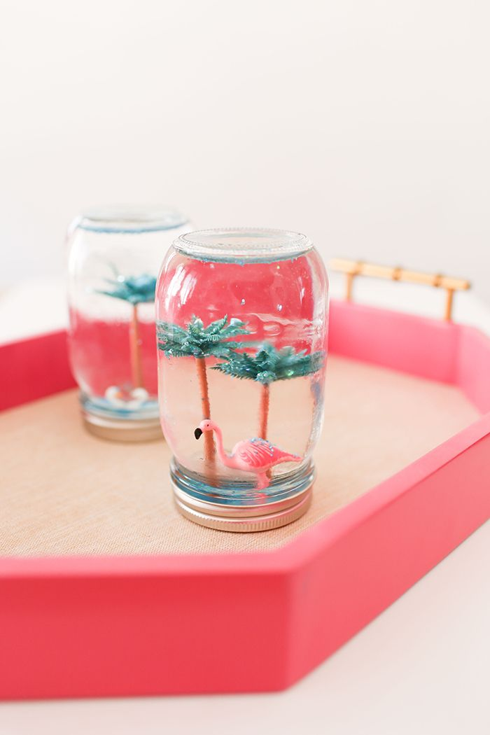 DIY summer snow globes