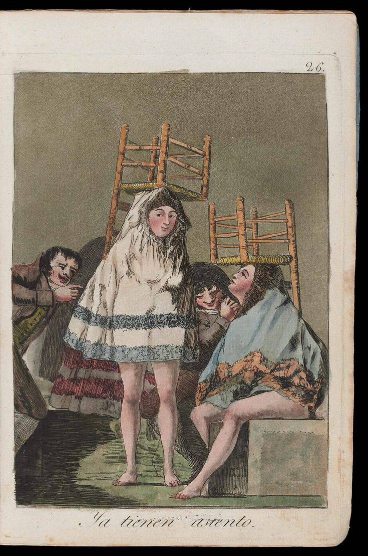 "Ya tienen asiento. (They've already got a seat); Plate 26 bound into ""Los Caprichos"" | Museum of Fine Arts, Boston"