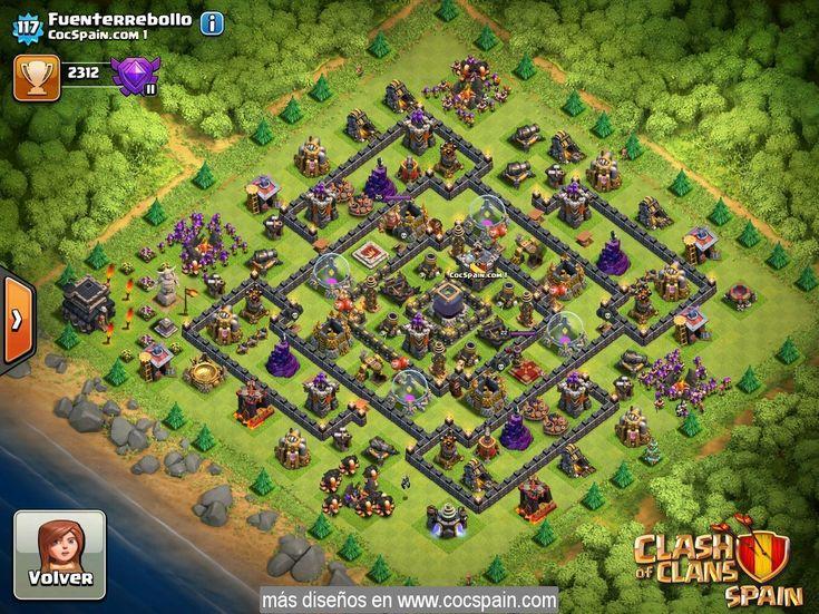 Diseño aldea de ayuntamiento nivel 9 (TH9) farming 1