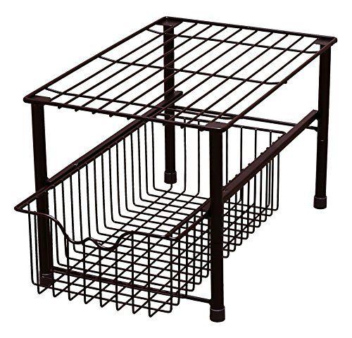 Kitchen Cabinets Basket Drawer: DecoBros Stackable Under Sink Cabinet Sliding Basket