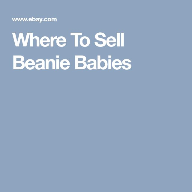Where To Sell Beanie Babies