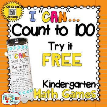 Counting to 100 Kindergarten Math Game FREE
