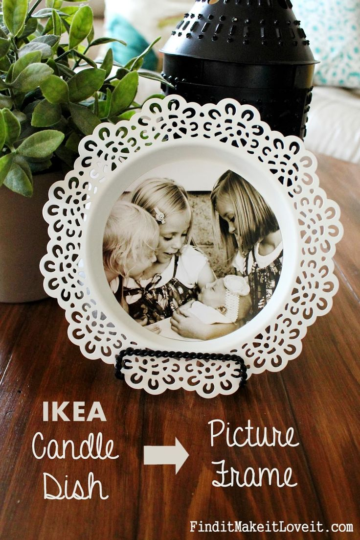 IKEA Candle Dish Turned Picture Frame