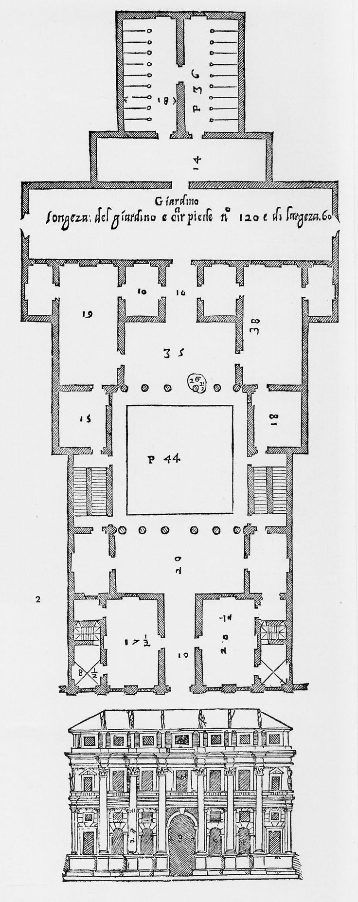 Plan Vs Elevation : Andrea palladio palazzo valmarana vicenza italy