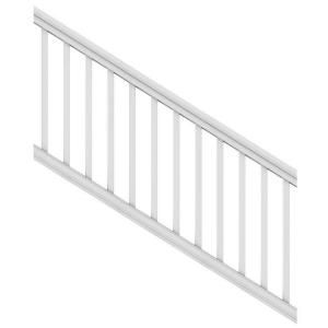 Best Veranda Pro Rail 6 Ft X 36 In White Polycomposite Stair 640 x 480
