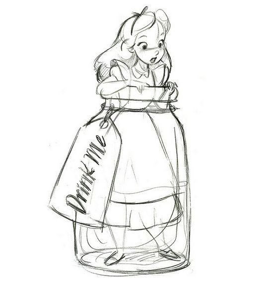 alice in wonderland sketches - Pesquisa Google