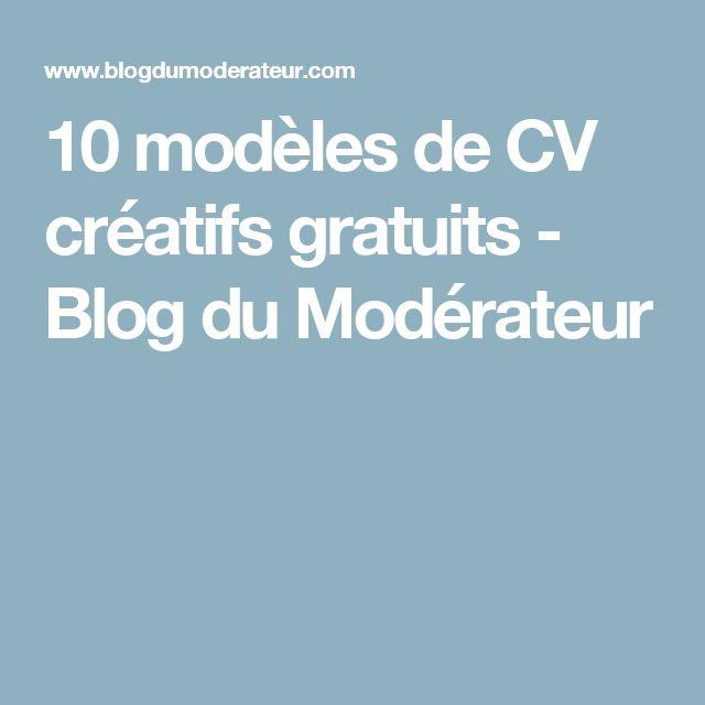 10 modèles de CV créatifs gratuits - Blog du Modérateur