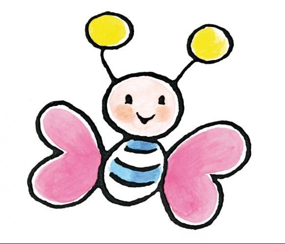Fotobehang Sweet Collectie - Big Pink Butterfly - FotobehangFactory.nl