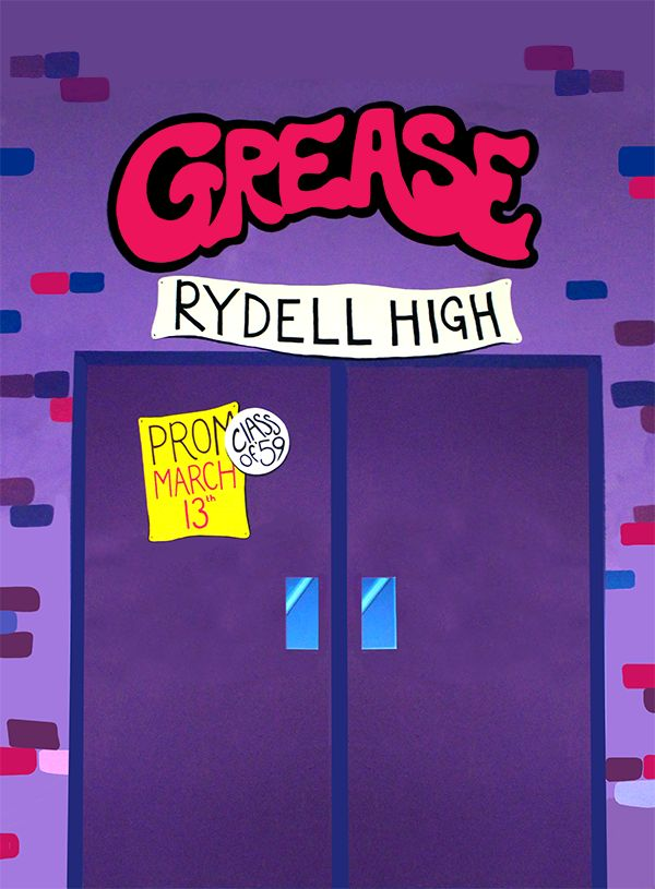 To design and paint the college production set of Grease the Musical. To coincide with the set design I designed and produced the marketing material such as posters, tickets, programmes and bookmarks. The college asked me to design and paint the set for their annual college production: Grease. The Head of Music gave me a rough idea of what she wanted, the rest was up to me. I sketched out my ideas onto paper first, I then used a digital projector to project the images onto the walls. This...