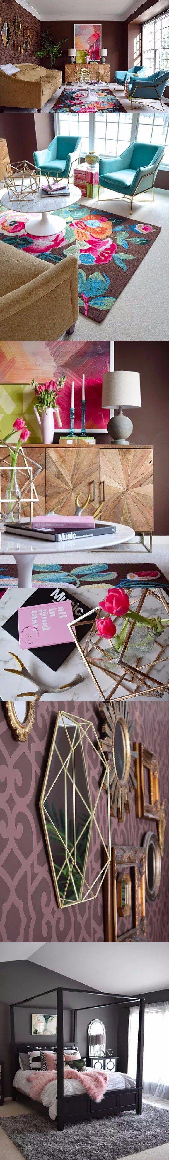 Nuevo diseño: sala de estar y habitación / http://www.haneens-haven.com