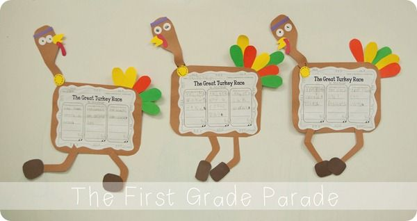 "Comp--Beginning, Middle, End w ""The Great Turkey Race."" Activity by Cara Carroll @ The First Grade Parade"