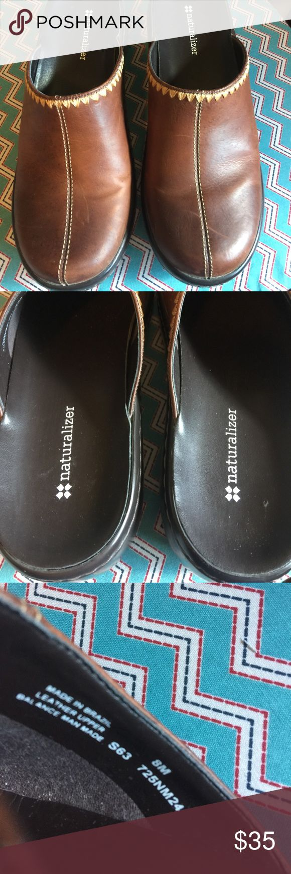Never worn Naturalizer leather upper mules Beautiful leather uppers by Naturalizer. Size 8 M Naturalizer Shoes Mules & Clogs