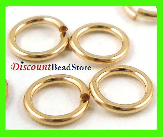 50pcs 4mm 14k gold filled jump ring open round o charm connector 20 gauge thick wire GR24