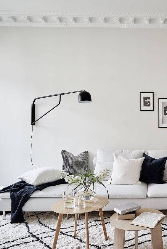 IKEA sofa and monochrome styling