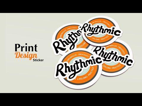 Print Design - Instances of sticker - Adobe Illustrator - YouTube