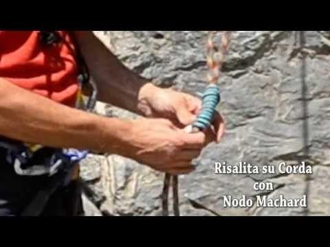 Risalita su corda con machard - YouTube