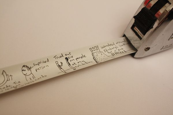"""BEST IDEA EVER! Diary tape-use to record child's height, """"first-time's"""", school years, anniversary timelines, etc."""