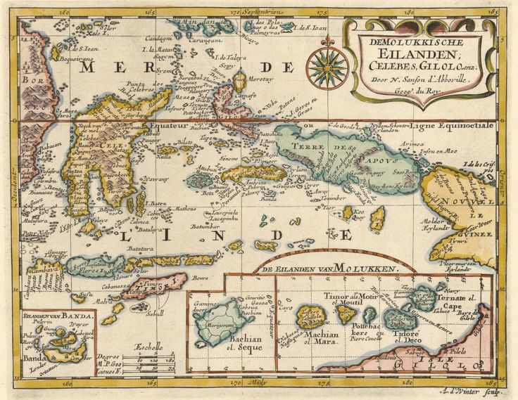 Moluccas Islands 1683