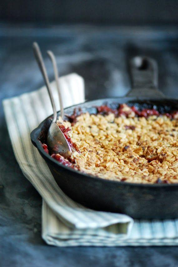 Rhubarb & Strawberry Croustade via Madame Gâteau