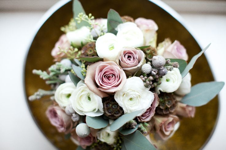 Colours make this bouquet look icey - great for winter wedding but are colours strong enough?