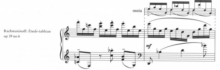 an ossia stave should be linked to the main stave with a dashed barline either end, see example #booseyfact