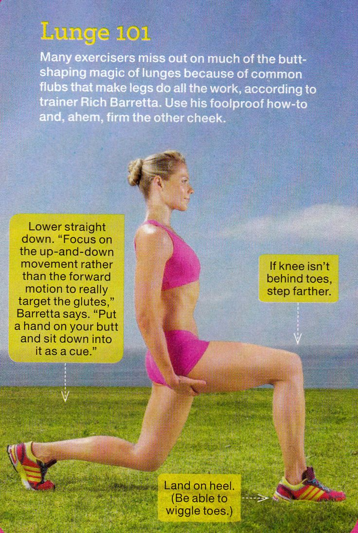 Lunge 101  Nothing like lunges to improve the posterior...and I need all the improving I can get!