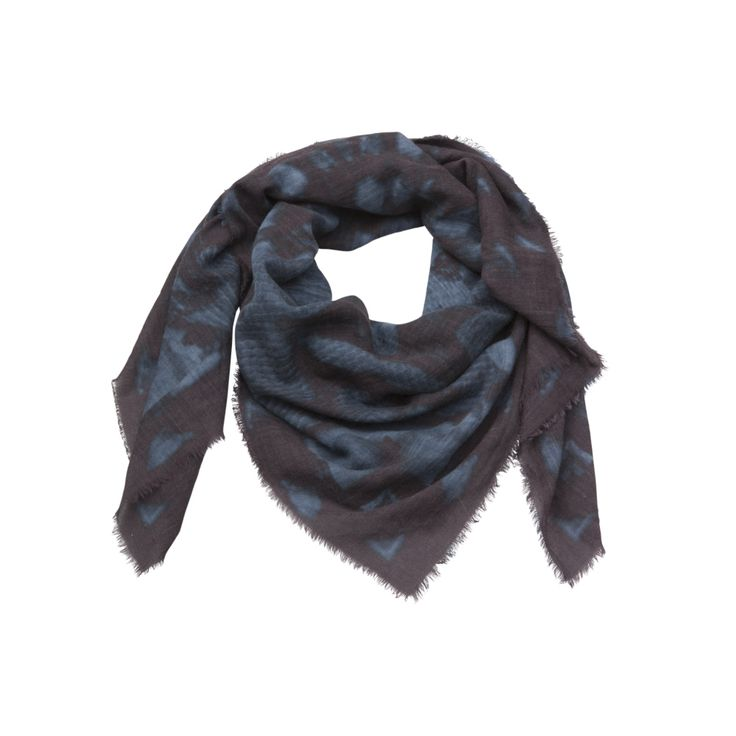 ANGUEM SCARF | AVGVS  - snake scales print, wool/cashmere, made in Italy, free worldwide shipping