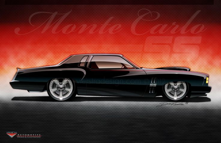 Custom 1973 Chevy Monte Carlo SS.  Rendering by vierstradesign.com © 2012