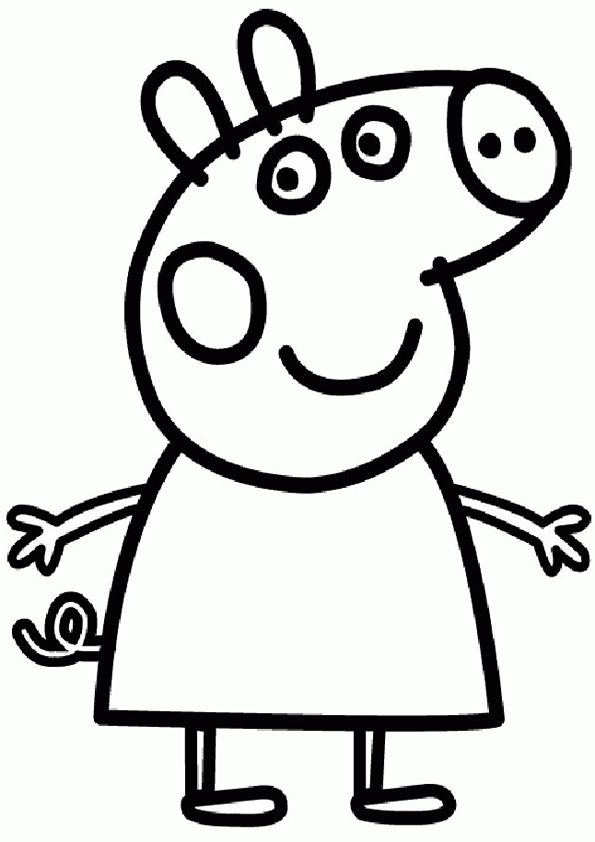 69 best peppa pig images on pinterest | pigs, pig birthday and ... - Peppa Pig Coloring Pages Print