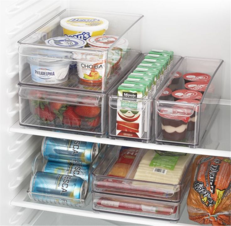 Fridge Bins and Organizer and Tray  | Crate and Barrel