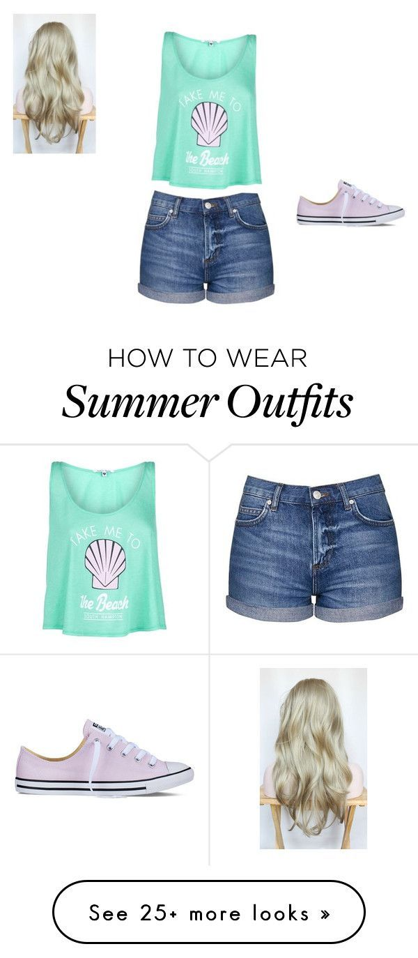 Summer Outfit by madisonpriceee on Polyvore featuring Topshop, Wildfox and Converse