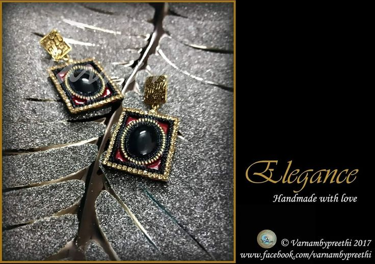I found this plate for this photo and i really love the way it is enhancing the earrings. Some orders makes us revisit old deisgns.. isn't it?? #handmadlove #varnambypreethi #elegance #chennai #earrings #accessorries #jewelry #trendy #100dayschallenge #day78 #paperbased #cabochon