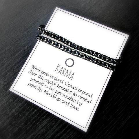 Karma Crystal Wrap Bracelet