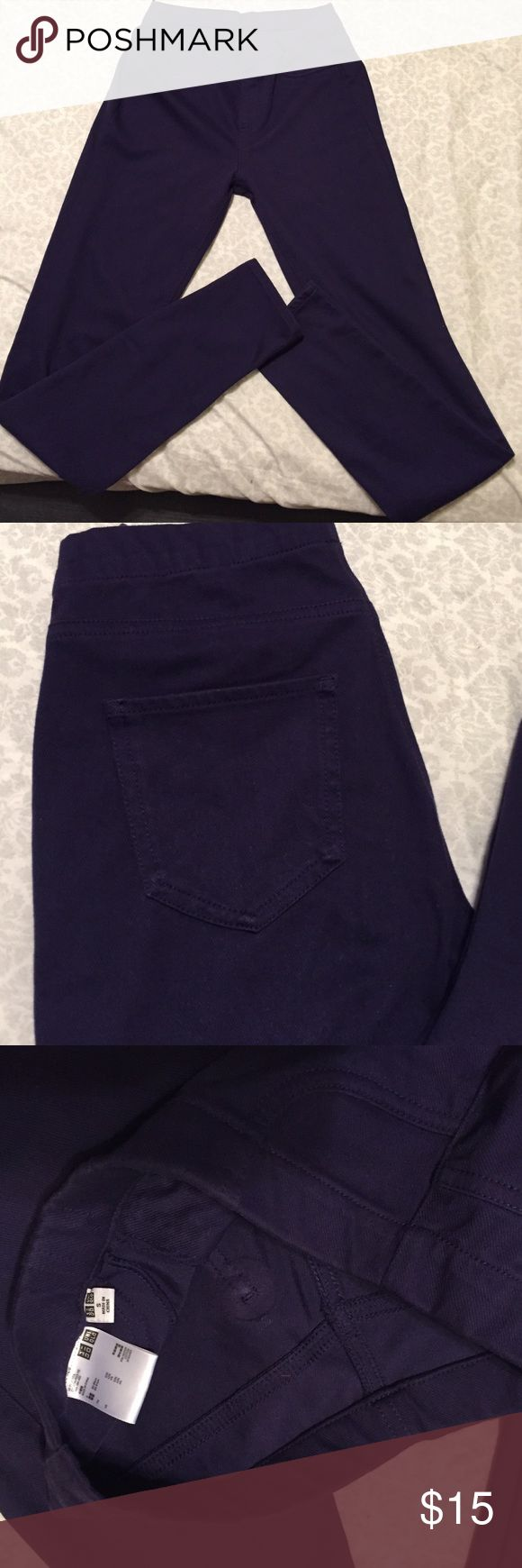 Cute UNIQLO leggings Very cute and perfect condition, dark purple UNIQLO Pants Leggings