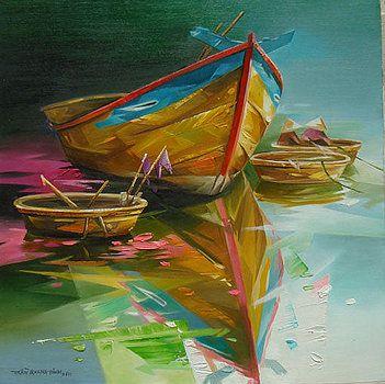 Tran Quang Dinh'in balıkçı tekneleri