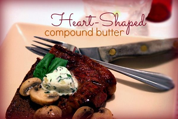 Heart-Shaped Compound Butter