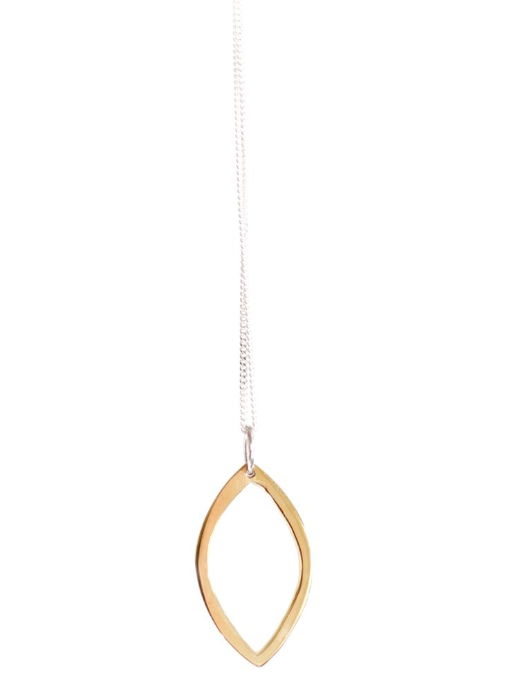 open drawing pendant brass